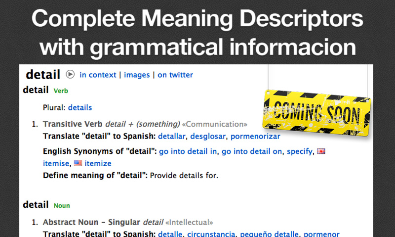 Complete Meaning Descriptors