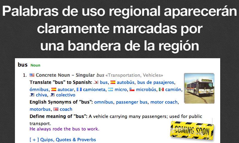Regionalismos señalados con banderas