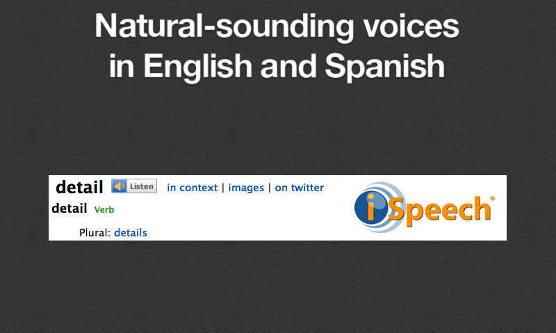 Natural-sounding voices in English and Spanish