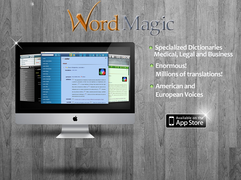 The power of our dictionaries Now in your Mac!